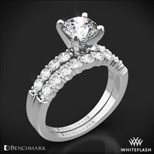 Platinum Benchmark SP4 Shared-Prong Diamond Wedding Set | Whiteflash