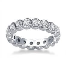Platinum Bezel Set Diamond Eternity Ring (1.70 - 2.00 cttw.) | B2C Jewels