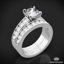 Platinum Cathedral Channel-Set Diamond Wedding Set   Whiteflash