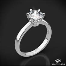 Platinum Contemporary Solitaire Engagement Ring | Whiteflash