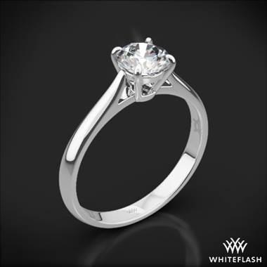 Platinum Fine Line Solitaire Engagement Ring