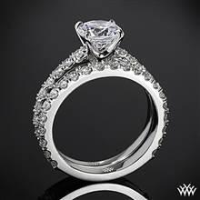 Platinum French-Set Diamond Wedding Set | Whiteflash