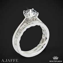 Platinum Gold A. Jaffe ME1569Q Seasons of Love Solitaire Wedding Set | Whiteflash