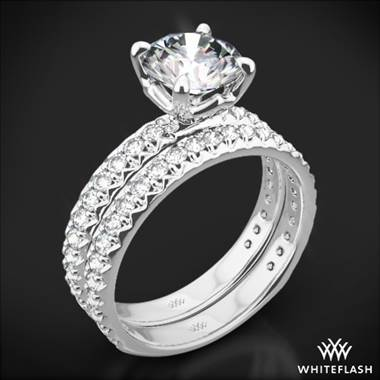 Platinum Harmony Diamond Wedding Set