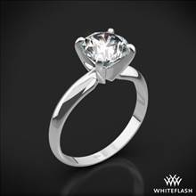 Platinum Heavy 4 Prong Solitaire Engagement Ring | Whiteflash