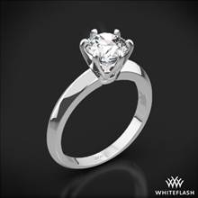 Platinum Knife-Edge Solitaire Engagement Ring | Whiteflash