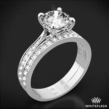 Platinum Legato Sleek Line Pave Diamond Wedding Set | Whiteflash