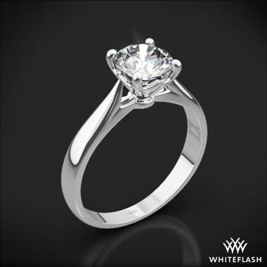 Platinum Legato Sleek Line Solitaire Engagement Ring