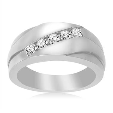 Platinum Men's Diamond Band (1/2 cttw.)