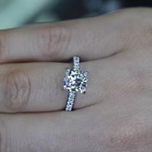 Platinum Pave Semi Mount IDJ-014613 | I.D.Jewelry