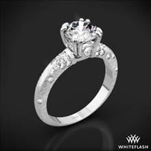 Platinum Petite Champagne Pave Diamond Engagement Ring | Whiteflash