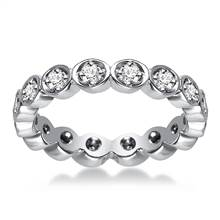 Platinum Prong Set Diamond Eternity Ring (0.30 - 0.36 cttw.) | B2C Jewels