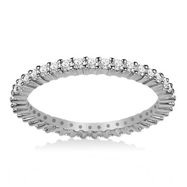 Platinum Prong-Set Diamond Eternity Ring For Ladies Diamond Band (0.53 - 0.62 cttw.)
