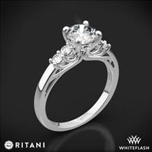 Platinum Ritani 1RZ2716 Trellis Five-Stone Diamond Engagement Ring | Whiteflash