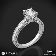 Platinum Ritani 1RZ2830 Micropave Braided Diamond Engagement Ring | Whiteflash