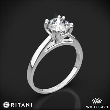 Platinum Ritani 1RZ7232 Cathedral Tulip Solitaire Engagement Ring