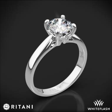 Platinum Ritani 1RZ7241 Cathedral Tapered Solitaire Engagement Ring