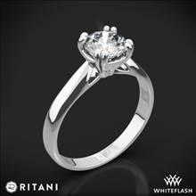 Platinum Ritani 1RZ7242 Tulip Cathedral Solitaire Engagement Ring   Whiteflash