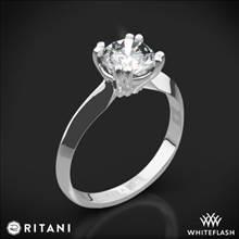 Platinum Ritani 1RZ7262 Knife-Edge Tulip Solitaire Engagement Ring | Whiteflash