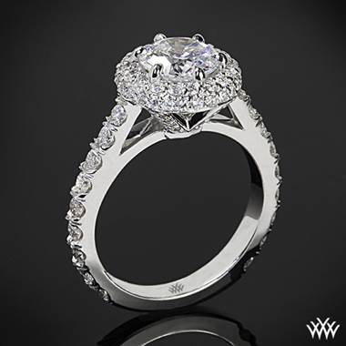 b0a9287a0ed Platinum Rounded Pave Halo Diamond Engagement Ring   Whiteflash   1600