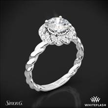 Platinum Simon G. LR1133 Classic Romance Halo Diamond Engagement Ring | Whiteflash