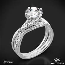 Platinum Simon G. MR1394 Fabled Diamond Wedding Set | Whiteflash