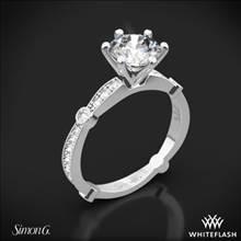 Platinum Simon G. MR1546 Delicate Diamond Engagement Ring   Whiteflash