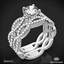 Platinum Simon G. MR1596 Fabled Diamond Wedding Set | Whiteflash