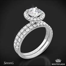 Platinum Simon G. MR1811 Passion Halo Diamond Wedding Set | Whiteflash