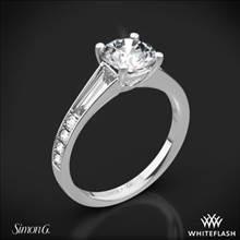 Platinum Simon G. MR2220 Duchess Diamond Engagement Ring | Whiteflash