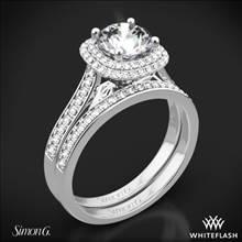Platinum Simon G. MR2395 Passion Halo Diamond Wedding Set | Whiteflash