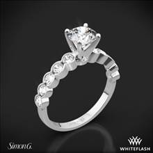 Platinum Simon G. MR2566 Caviar Diamond Engagement Ring | Whiteflash