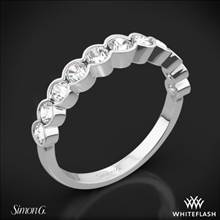 Platinum Simon G. MR2566 Caviar Diamond Wedding Ring | Whiteflash