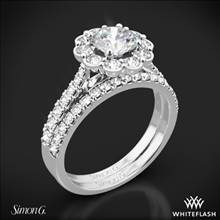 Platinum Simon G. MR2573 Passion Halo Diamond Wedding Set | Whiteflash
