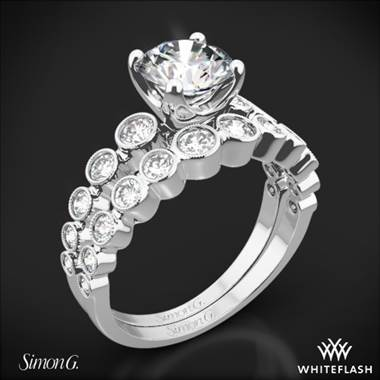 Platinum Simon G. MR2692 Caviar Diamond Wedding Set