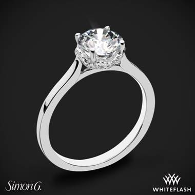 Platinum Simon G. MR2945 Solitaire Engagement Ring