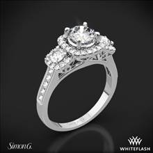 Platinum Simon G. NR464 Passion Three Stone Engagement Ring | Whiteflash