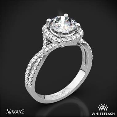 Platinum Simon G. NR468 Passion Halo Diamond Engagement Ring