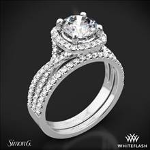 Platinum Simon G. NR468 Passion Halo Diamond Wedding Set | Whiteflash
