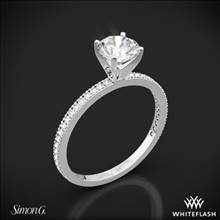 Platinum Simon G. PR108 Classic Romance Diamond Engagement Ring | Whiteflash