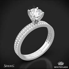 Platinum Simon G. PR108 Classic Romance Diamond Wedding Set | Whiteflash