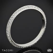 Platinum Tacori 2520ET Simply Tacori Knife-Edge Pave Diamond Wedding Ring | Whiteflash