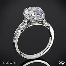Platinum Tacori 2620RDP Dantela Crown Diamond Engagement Ring (0.37ctw, For 2ct Center Diamond) | Whiteflash