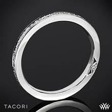 Platinum Tacori 2630BSMP Dantela Eternity Small Pave Diamond Wedding Ring   Whiteflash