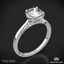 Platinum Tacori 2638RD Dantela Crescent Motif Solitaire Engagement Ring | Whiteflash