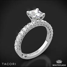 Platinum Tacori 32-2PR Clean Crescent Half Eternity for Princess Diamond Engagement Ring | Whiteflash