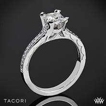 Platinum Tacori 58-2PR Sculpted Crescent Grace for Princess Diamond Engagement Ring | Whiteflash