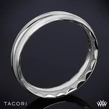 Platinum Tacori 76-5 Sculpted Crescent Mesh Wedding Ring | Whiteflash