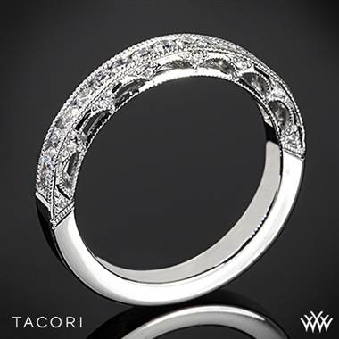 Platinum Tacori HT2510B Reverse Crescent Half Eternity Star Diamond Wedding Ring