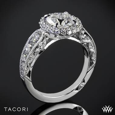 Platinum Tacori HT2521RD Blooming Beauties Double Bloom Diamond Engagement Ring
